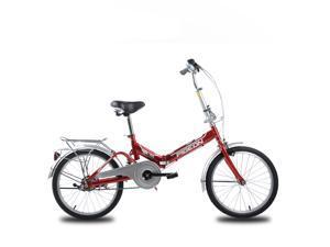 "FLYING-PIGEON Folding bike Suspension system 20"" Wheel High carbon steel frame Specialized saddle bottom for Express setup Safe and Comfortable - Red"