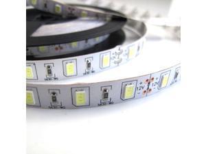 Foxnovo 5M /16.4ft 12V 300 SMD 5630 LEDs White Light Flexible LED Strip Light Lamp