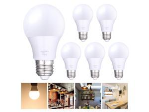 6x 9W A19 LED Light Bulbs E27 3000K Warm White Equivalent to 60W Incandescent