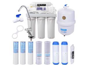 5 Stage 50 GPD Home Drinking Reverse Osmosis System and Extra 8 Water Filters