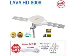 LAVA HD-8008 Amplified Indoor/Outdoor OmniPro Antenna Digital HDTV UHF/VHF/FM