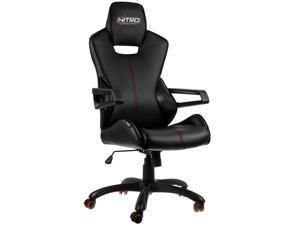 Black/Carbon Race Series Gaming/Office Chair Soft PU Leather Cover in Racing Car Style NITRO CONCEPTS E200R-BC