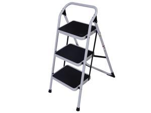 3 Step Lightweight Ladder HD Platform Foldable Stool 330 LB Cap. Saving Space