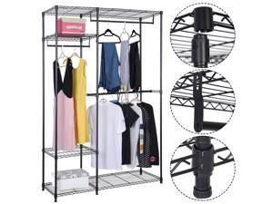 "48""x18""x71"" Closet Organizer Garment Rack Portable Clothes Hanger Home Shelf"