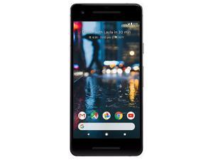 "Refurbished: Google Pixel 2 64GB GSM + CDMA Factory Unlocked 5"" AMOLED Display 4GB RAM 12.2MP Smartphone - Just Black"