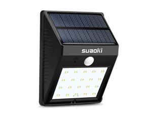 Suaoki Solar Lights 20 LED Waterproof Motion Sensor Outdoor Dimming/Bright Light for Patio, Deck, Yard, Garden with Motion Activated Auto On/Off
