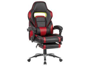 LANGRIA Ergonomic Leather High Back Office Chair Swivel Computer Gaming Executive Desk Task Chair, Red