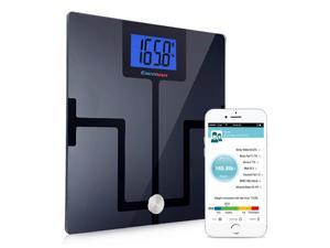 Excelvan Smart Wireless Bluetooth Digital Body Fat Scale Bathroom Scale BMI BMR with Free App for iOS Android Devices Body Analyzer 180kg/400lbs