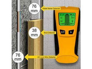 Floureon 3 in 1 Wall Stud Center Finder, Metal and AC Live Wire Electrical Scanning Detector