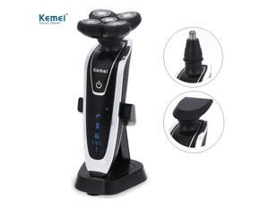 Kemei KM - 5884 5D Floating Heads Washable Electric Shavers Beard Body Razor with Nose Trimmer for Man - EU PLUG