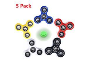 (5 Packs) Hand Spinner EDC Gyro Focusing Toy Finger Stress Reducer - COLORMIX