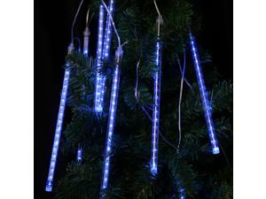 Finether 144 LED 8 Tube Meteor Shower Snowfall Fairy String Lights for Christmas Xmas Tree Party Wedding, Blue
