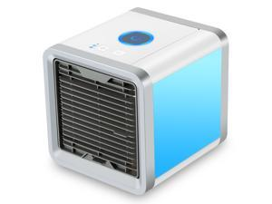 Air Cooler, 3 in 1 USB Mini Portable Air Conditioner, Humidifier, Purifier and 7 Colors Nightstand, Desktop Cooling Fan for Office Home Outdoor Travel