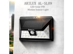 ARILUX 24 LED Solar Powered PIR Motion Sensor Outdoor Garden Security Wall Light Waterproof