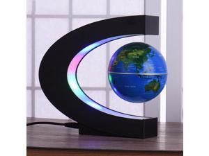 C shape Levitation Anti Gravity Globe Magnetic Floating World Map with LED Light