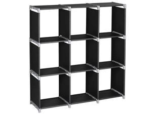 3 Tier 9 Cube Storage Closet Cloth Organizer Shelf Bookcase Storage Modular