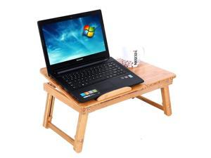 Folding Laptop Table Lap Desk Bed Portable Computer Tray Stand Holder Wood Read