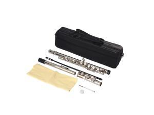 High Quality Nickel-plated C Key 16 Hole Flute Silver Color for Beginner