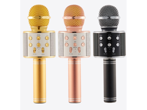 Wireless Microphone with Speaker Karaoke Pro, Bluetooth Aluminium Alloy Karaoke Machine KTV for iPhone/Android Smartphone/PC