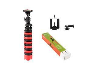Universal Portable Table Top Mini Tripod Flexible For GoPro&Cell Phone&Camera DV(Red)