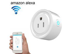 2 PACK Smart Socket, Mini Smart Plug Wi-Fi Enabled, Remote Control From Anywhere, Works with Amazon Alexa, Support 2.4GHz Wifi Networks, Electrical Power Switch for Household Applicances