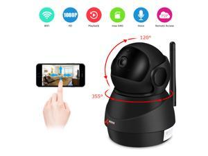 ANRAN 1080P Wifi Camera Home Video Surveillance Camera CCTV Night Vision Security Camera Pan 355°  Tilt 120° Two-Way Audio Baby Monitor 1920*1080 Max Support 64GB SD Card