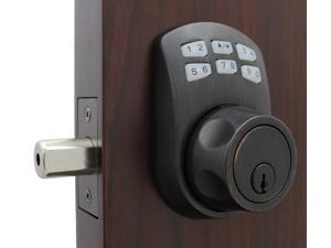 LockeyUSA Slim Line 910 Keyless Entry Combination, Digital Door Lock, Manual Drive Electronic Deadbolt, Oil Rubbed Bronze