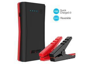 [Quick Charge 3.0 & USB C]BEATIT TECH 500A Peak 10800mAh Portable Jump Starter Power Pack Phone Power Bank With USB Type-C 5V/3A Port Auto Battery Pack Booster Charger