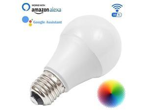 AvatarControls Wifi Smart LED Bulb,E26 6.5W Dimmable RGB Multi-color Changing Home Light,Compatible with Alexa/Google Assistant,Supports Remote Control ON/OFF/Color Switch via Android/iOS App
