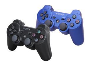 2 Pack SONY DualShock 3 Wireless Controller - Black & Blue (OEM)