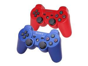 2 Pack SONY DualShock 3 Wireless Controller - Blue & Red (OEM)