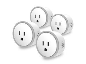 Elf Smart Plug by Eques - No Hub Required - Compatible with Alexa & Google Home (4 Pack)