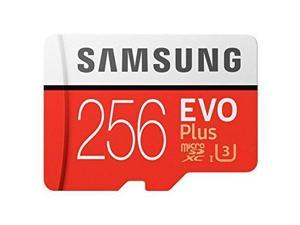 Samsung 256GB EVO Plus Class 10 UHS-I microSDXC U3 with Adapter (MB-MC256GA/EU) Read: up to 100MB/s, Write: up to 90MB/s