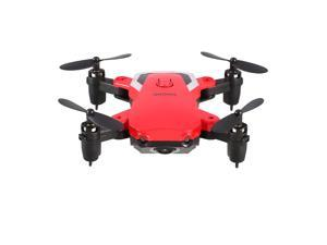 808 Mini Foldable RC Quadcopter Drone 720P HD Adjustable Camera Altitude Hold(red)