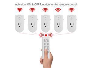 Wireless Remote Control Power Outlet Switch Power Plug In Socket For Lights LED Bulbs US Plug