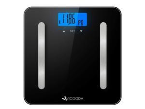 New Vicooda ID0021 Body Analyzer Scale w/ Large backlit Display, 400lb capacity
