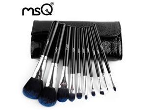 MSQ Professional 10Pcs Cosmetics Makeup Brush Set Maquillage Tool And Makeup Set With PU Leather Case