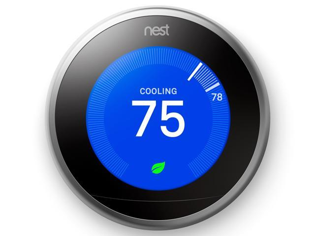 Nest Learning Thermostat 3rd Generation, Stainless Steel, Works with Google Home and Amazon Alexa