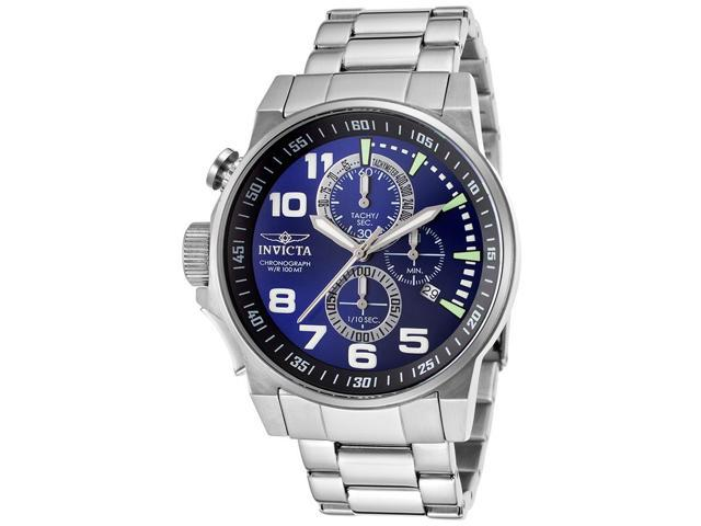 33205e8da Invicta 14957 Men's Force Chronograph Blue Dial Stainless Steel Watch