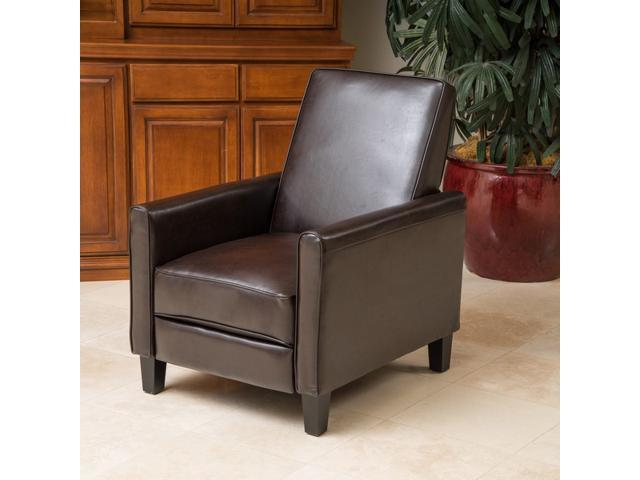 Christopher Knight Home Leather Recliner Club Chair   Brown