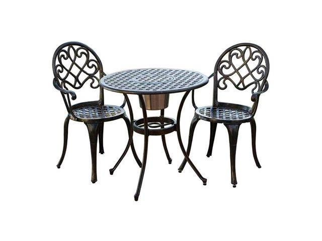 Christopher Knight Home Angeles 3 Piece Bistro Set With Ice Bucket