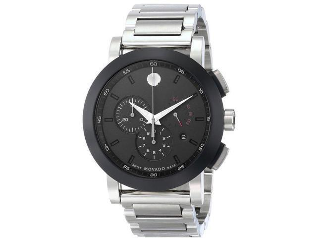 2019ab2b4 Movado 0606792 Men's Museum Silver Stainless-Steel Swiss Quartz Watch with Black  Dial