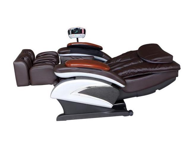Bestmassage Bm Ec06c Electric Full Body Shiatsu Massage Chair Recliner With Stretched Foot Rest Brown Neweggflash