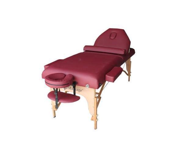 Cool Burgundy 77 L 30 W 4 Pad Reiki Portable Massage Table Home Interior And Landscaping Eliaenasavecom