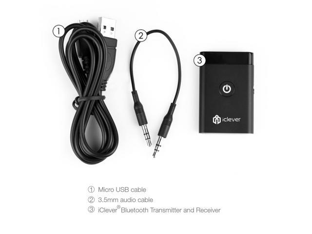 iClever IC-BTT02 Bluetooth Portable Stereo Music Transmitter