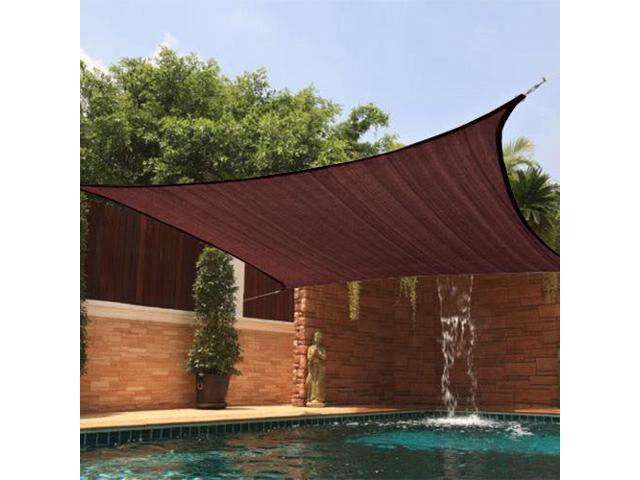 california sun sail shade rectangle 10u0027 x 20u0027 chocolate - Sun Sail Shade