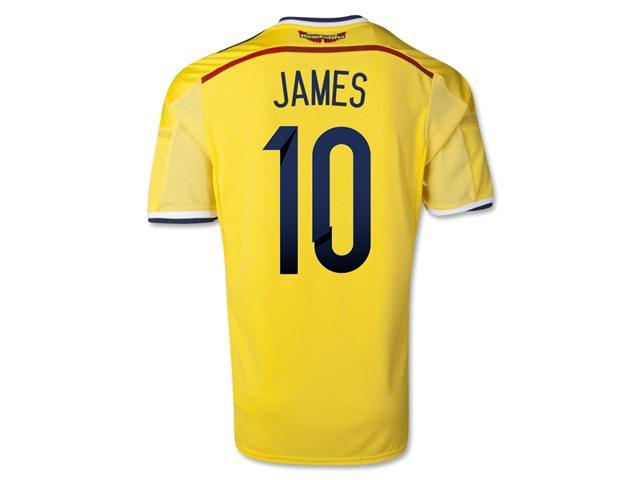a0aa791059e Adidas Men's World Cup 2014 Colombia James Rodríguez 10 Yellow Home Soccer  Jersey (US Size