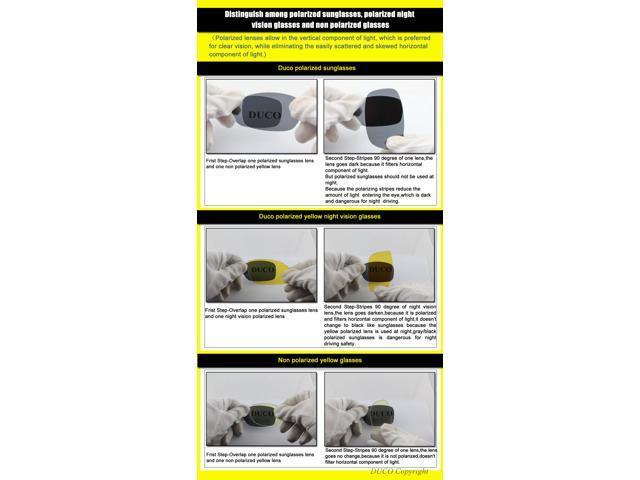 1f2d9ae9a9e Duco 3025Y Night-Vision Anti-Glare Polarized Driving Glasses ...