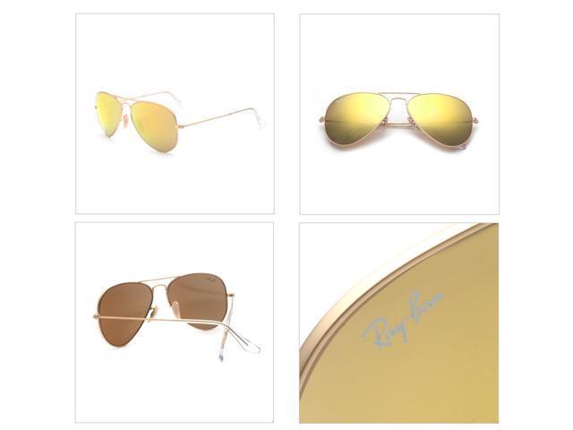 259bd3f2e81b9 Ray Ban RB3025 Aviator Flash Lenses Sunglasses - Gold Frame Yellow Lens