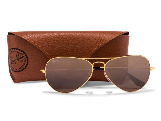 c092375ded Ray-Ban Aviator Sunglasses - Brown-Pink Gradient Lens with Gold Frame  RB3025 001